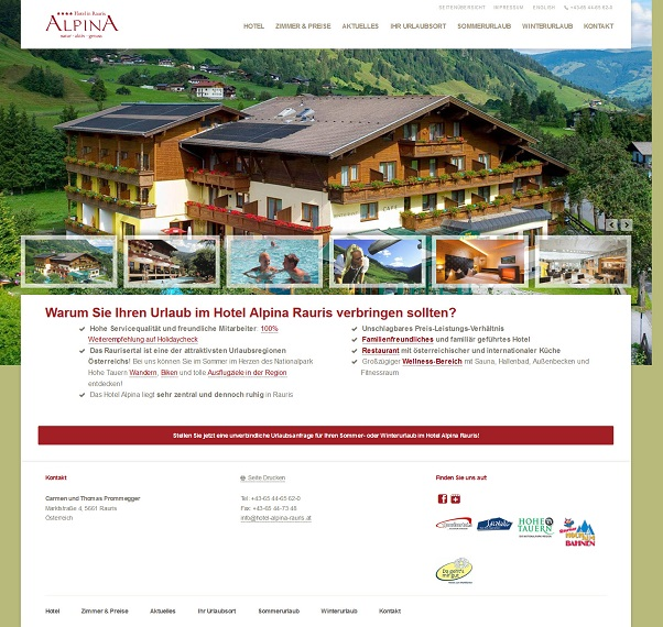 thumb hotel alpina rauris website